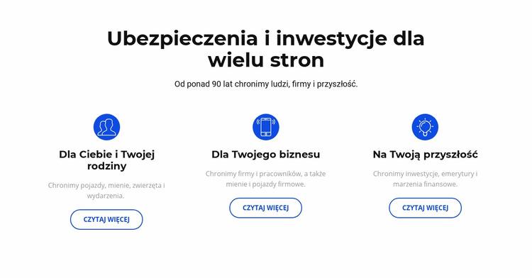 Ubezpieczenia i inwestycje Szablon Joomla