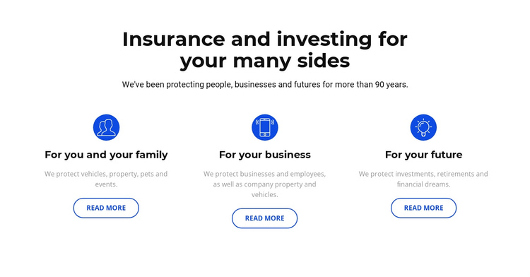 Insurance and investment Website Builder Software