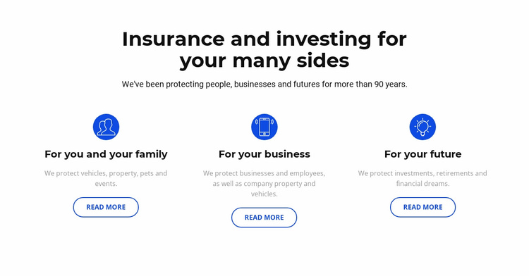 Insurance and investment Website Template