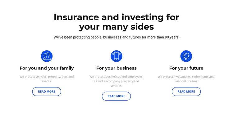 Insurance and investment WordPress Theme