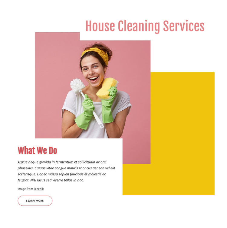 House cleaning company Joomla Template
