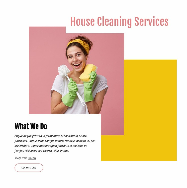 House cleaning company Web Page Design