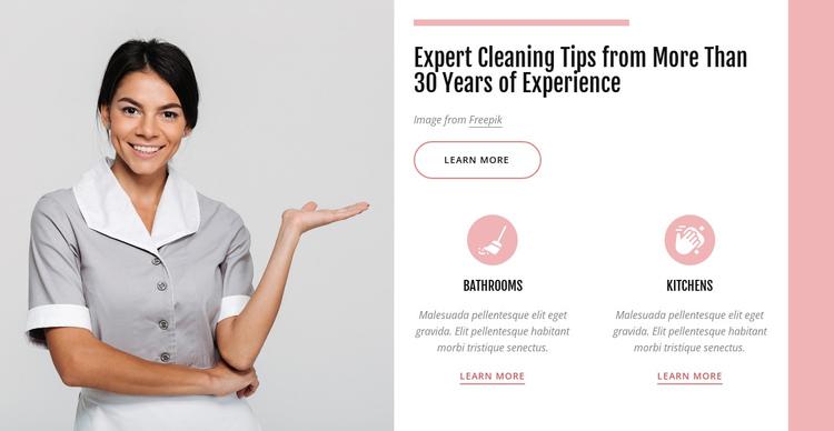 Expert cleaning tips Website Builder Software