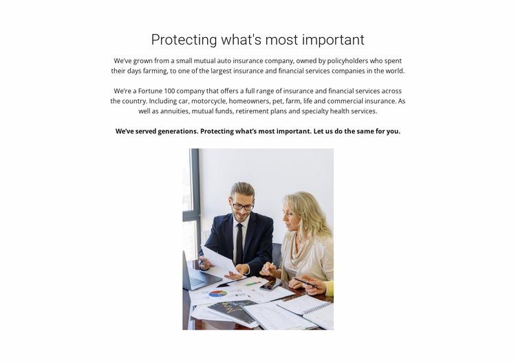 Full insurance Html Website Builder