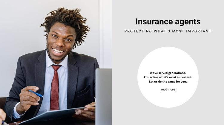 Insurance agents Web Page Designer