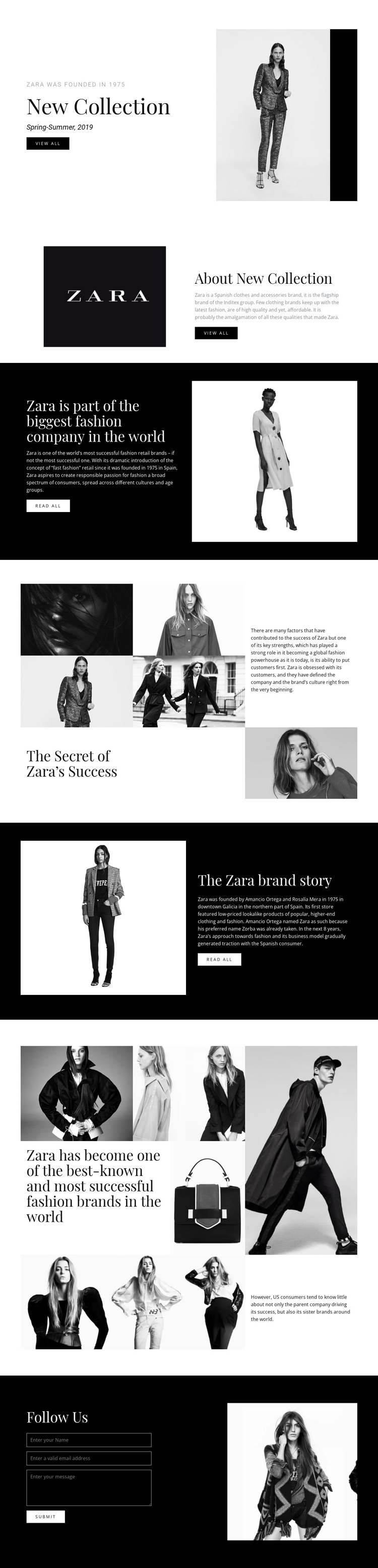 Wearing beauty and fashion One Page Template