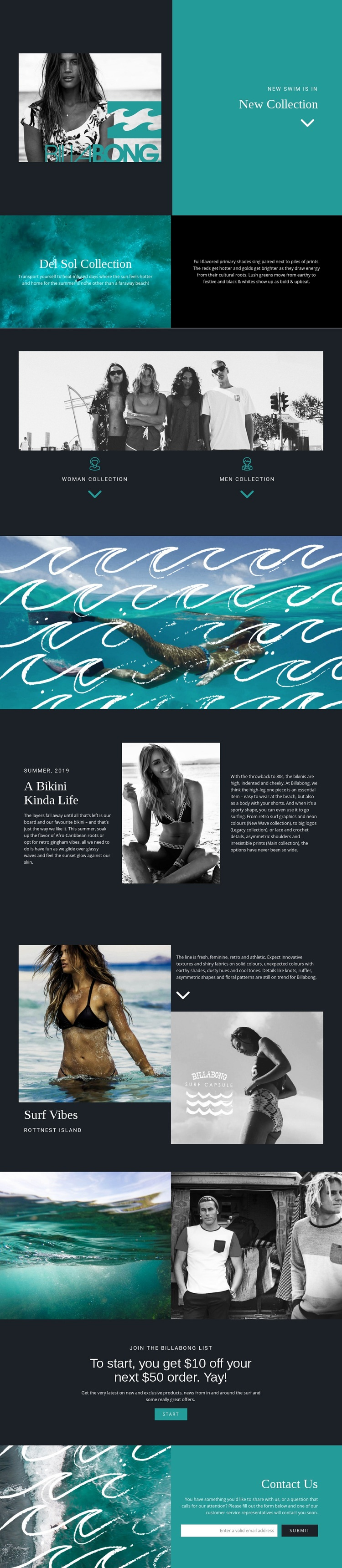 New collection of swimwear Html Code Example