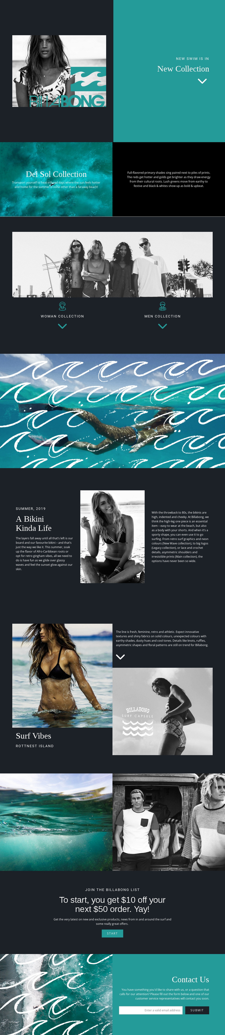 New collection of swimwear Joomla Page Builder