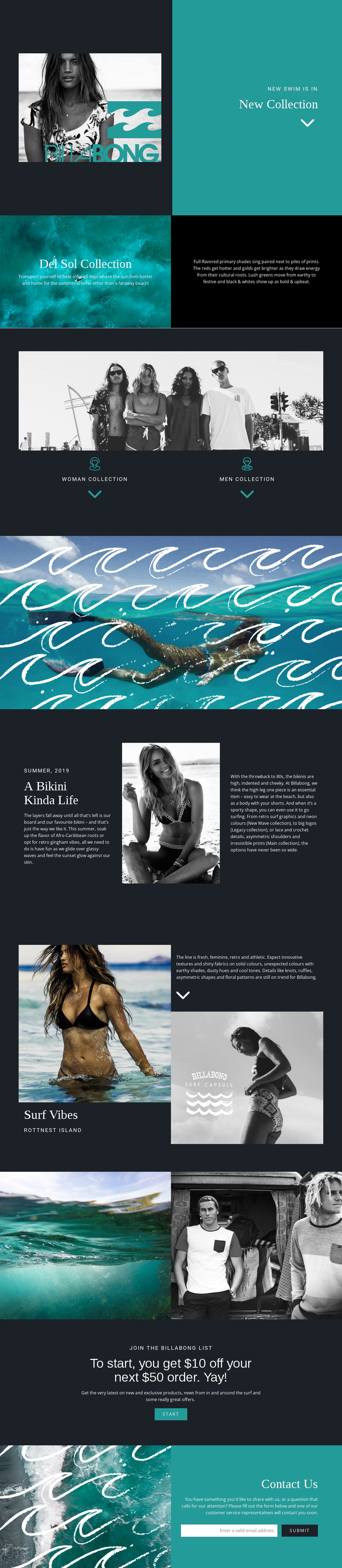 New collection of swimwear One Page Template