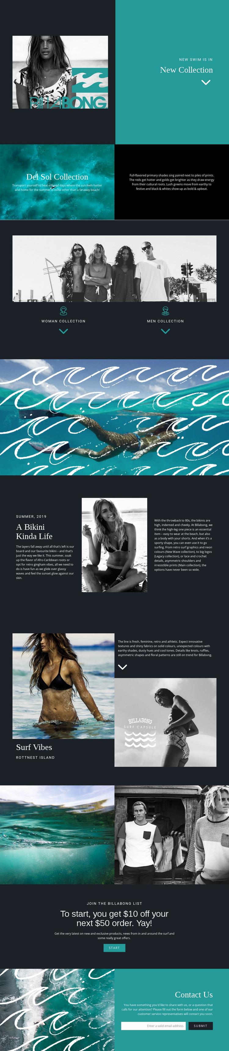 New collection of swimwear WordPress Theme