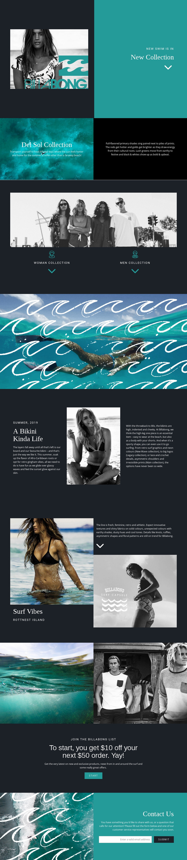 New collection of swimwear WordPress Website Builder