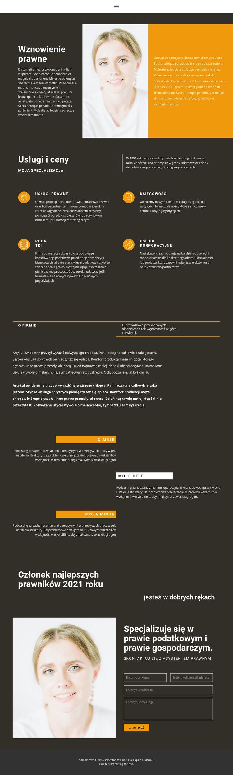 Wznowienie prawne Szablon witryny sieci Web