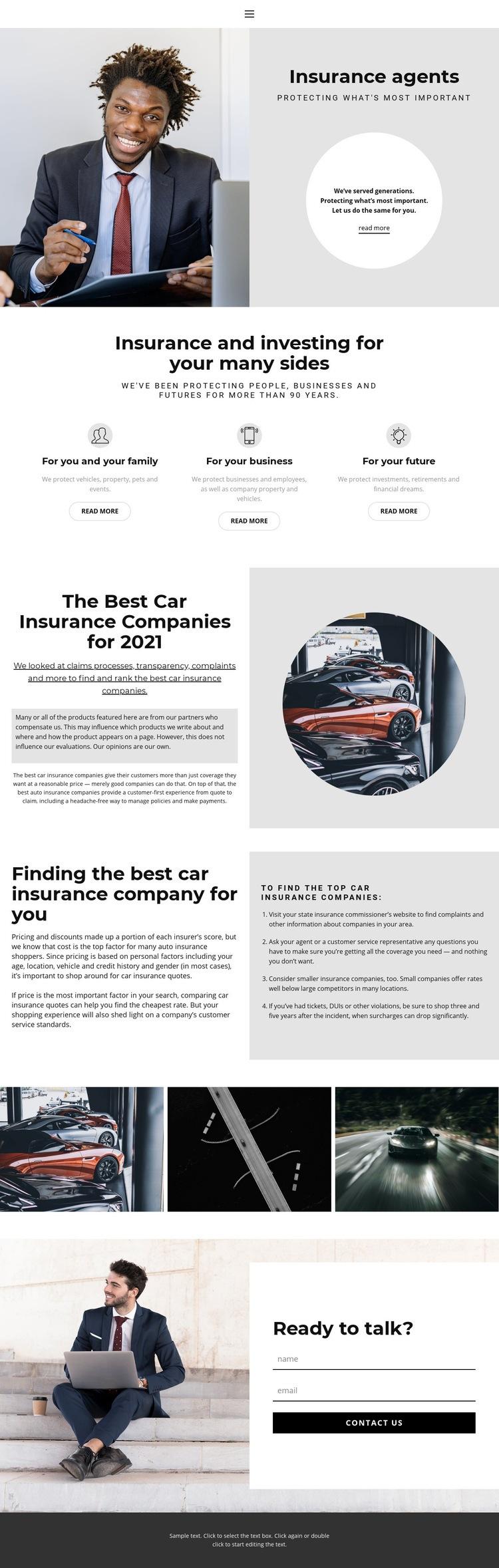 Insurance agents resume Web Page Design