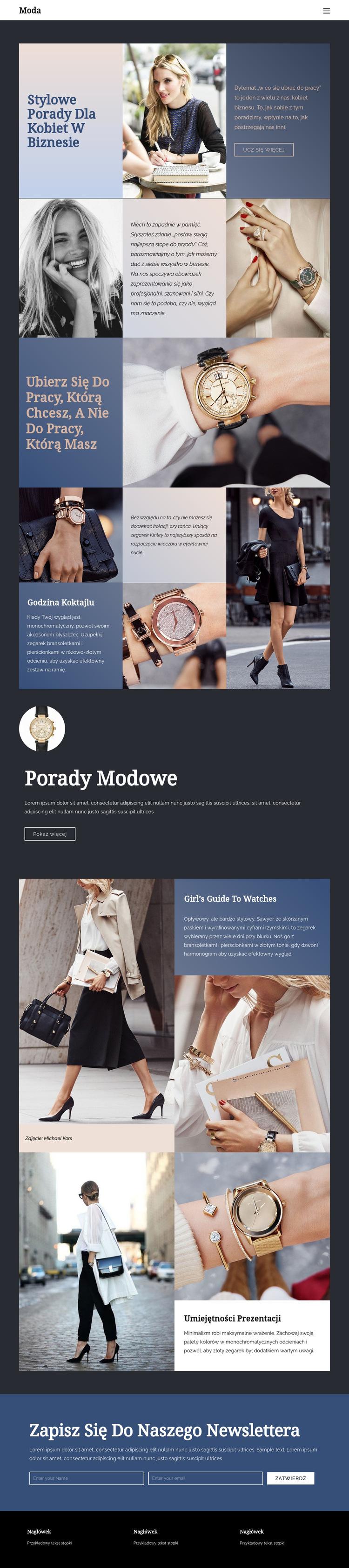 Wskazówki, jak odnieść sukces w modzie Szablon witryny sieci Web