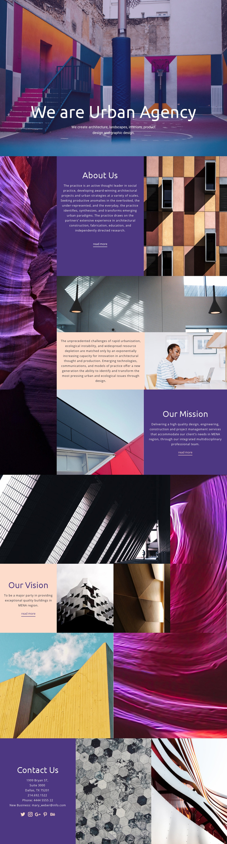 Urban real estate Web Page Design