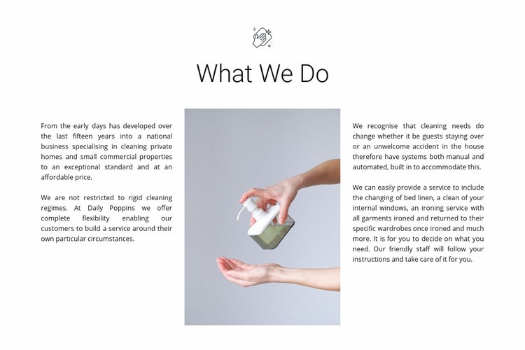Cleaning agency services Web Page Design