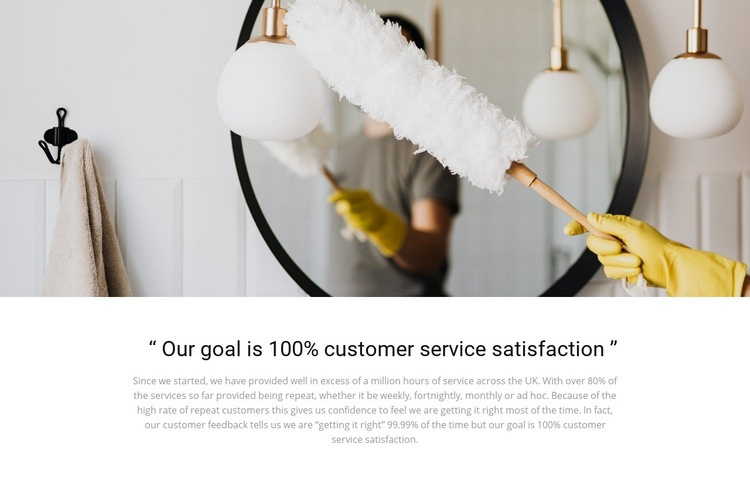 High-quality cleaning Web Page Design