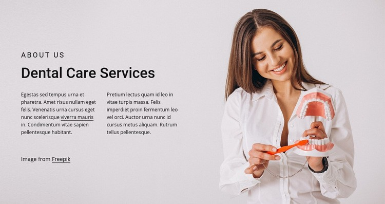 Dental care services Web Page Design