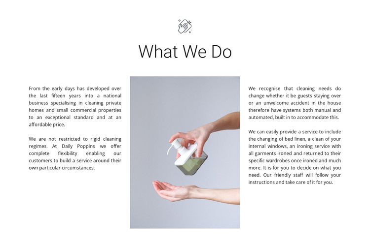 Cleaning agency services Website Builder Software