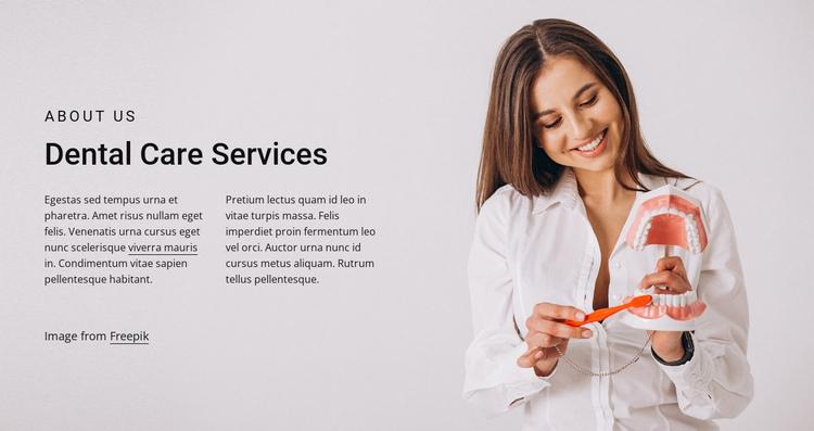 Dental care services Website Builder Software
