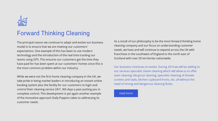 Forward thinking cleaning Website Template
