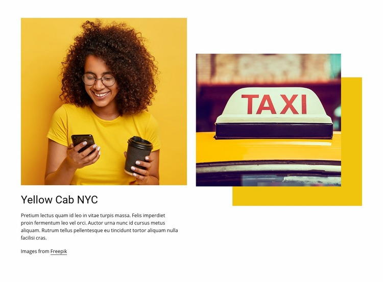 Best taxi service in New York Web Page Design