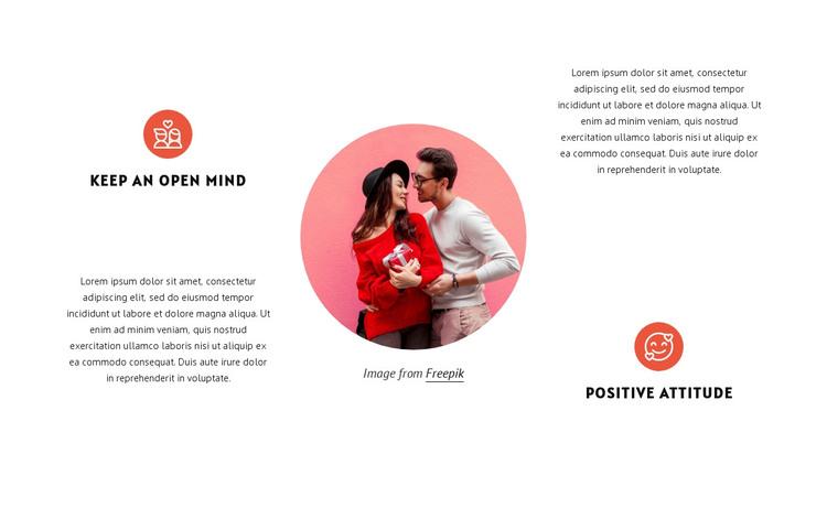 Keep an open mind HTML Template