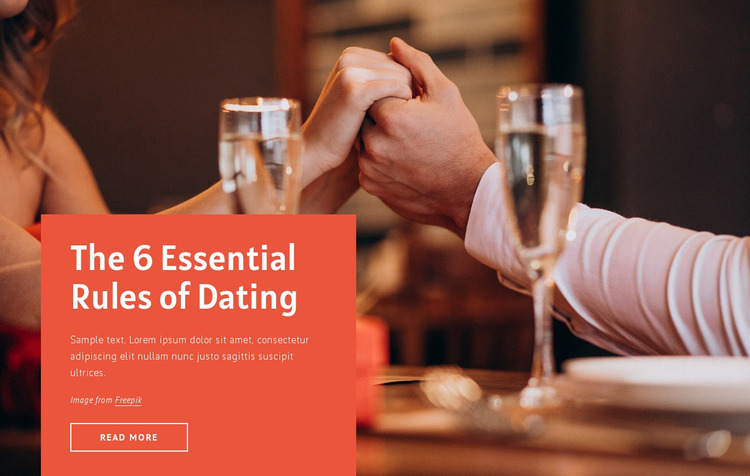 6 essential rules for dating Website Mockup