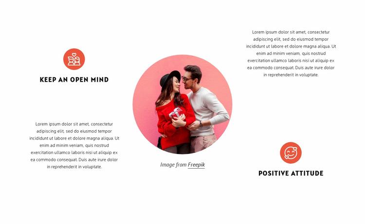 Keep an open mind Website Template