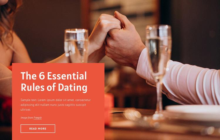 6 essential rules for dating WordPress Website Builder