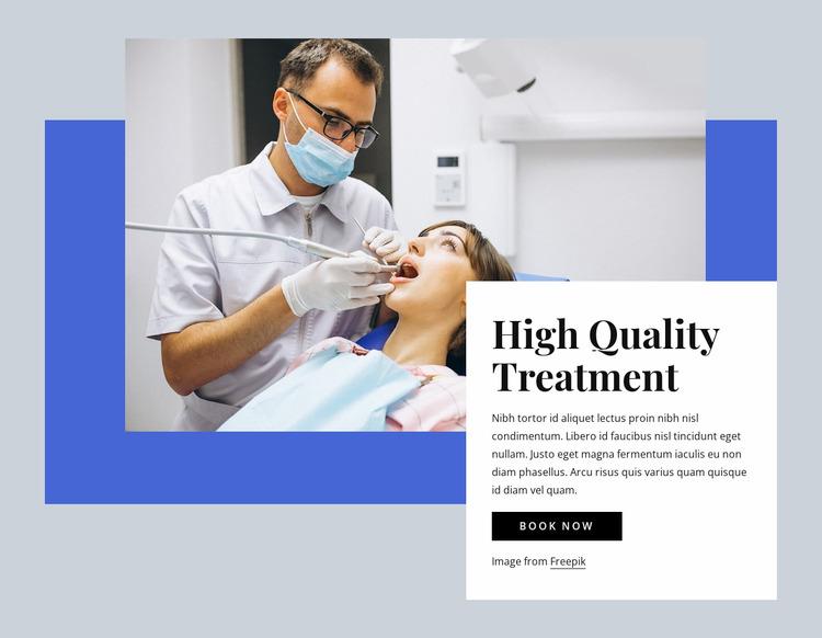 Hight quality dental care WordPress Website Builder