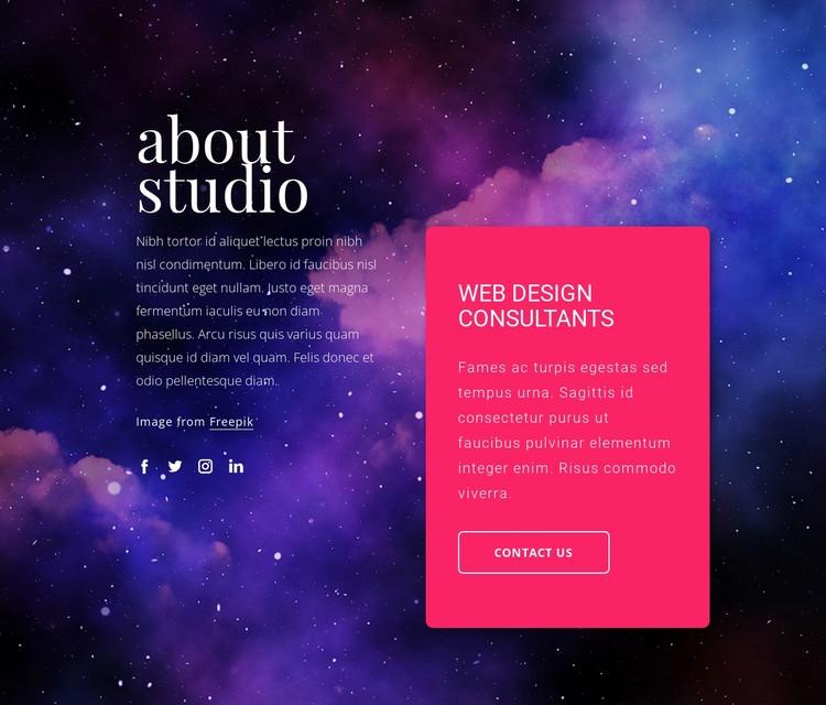 Web design consultants CSS Template