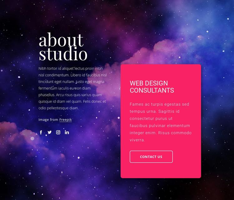 Web design consultants Website Mockup