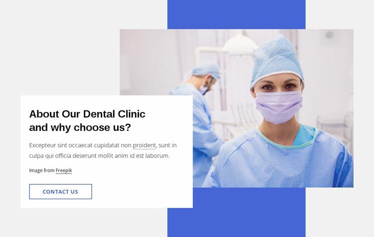 Healthy teeth and a healthy smile WordPress Website Builder