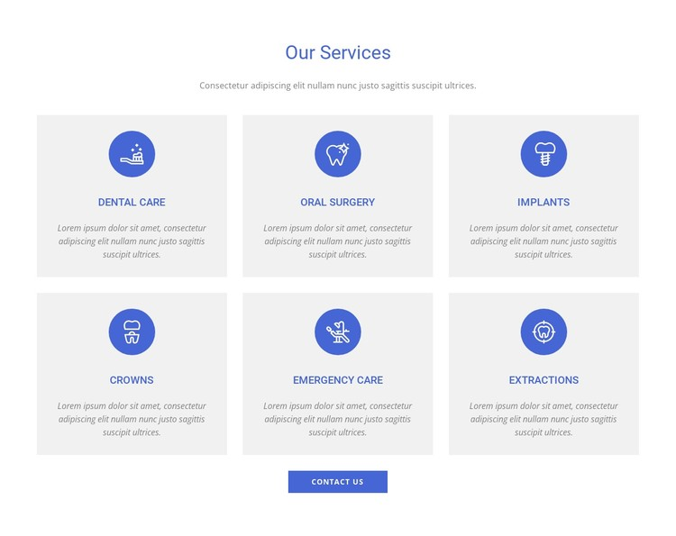 Dental clinic services Static Site Generator
