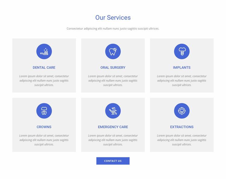 Dental clinic services Website Design