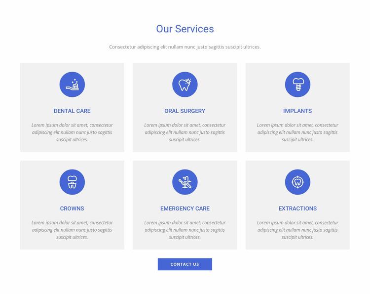 Dental clinic services Website Mockup