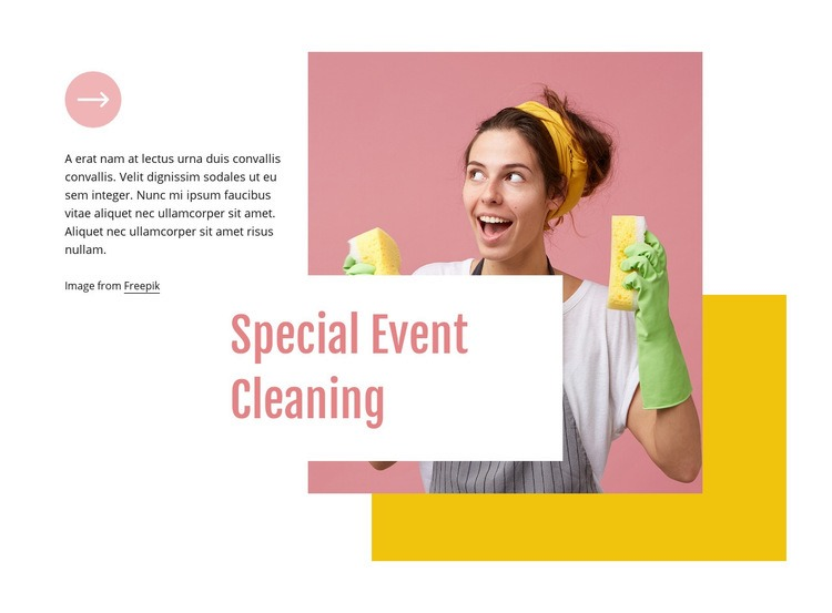 Special event cleaning Html Code Example