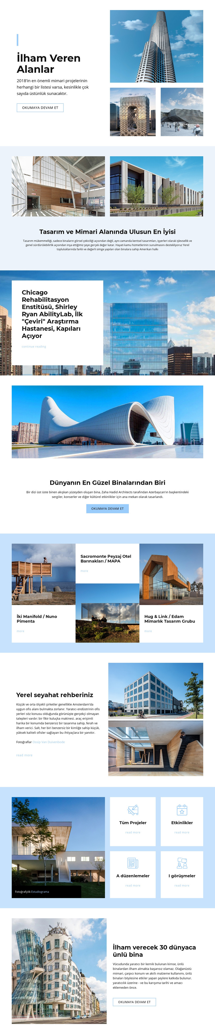 Uzaydan ilham alan mimari Web Sitesi Şablonu