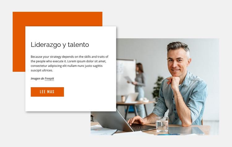 Liderazgo y talento Plantilla de sitio web
