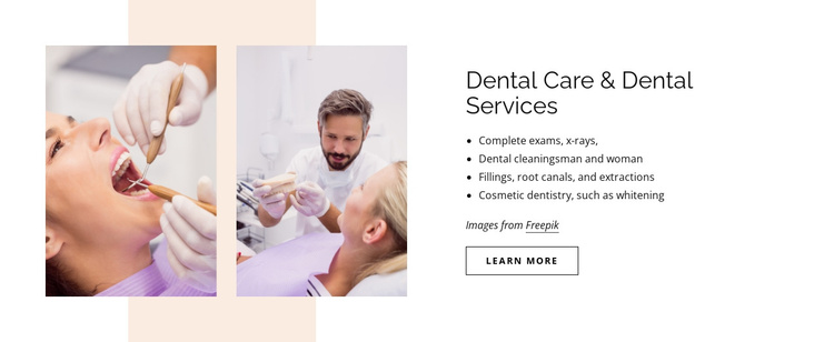Dental care and dental services Joomla Template