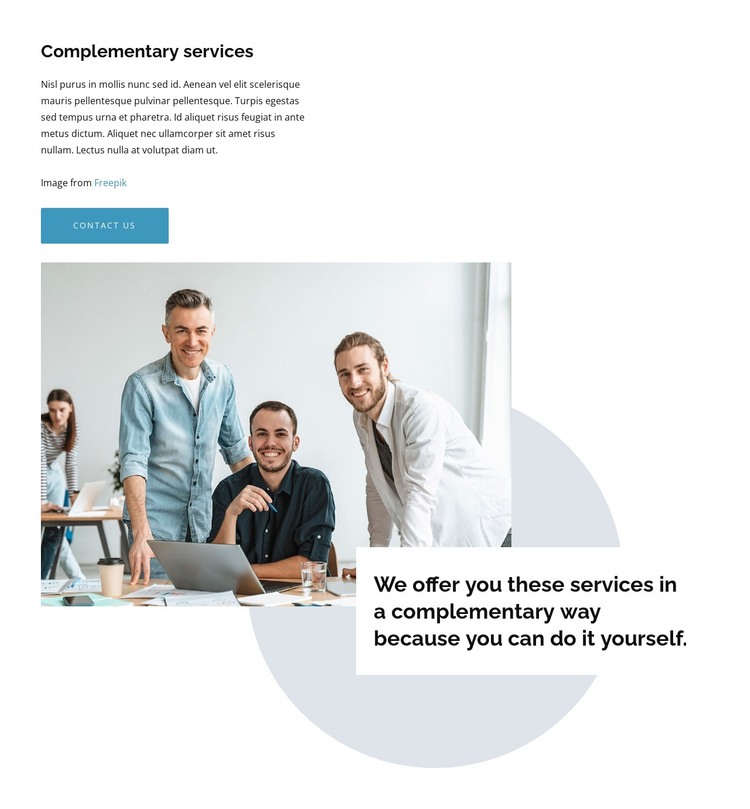 We create intuitive design Joomla Template