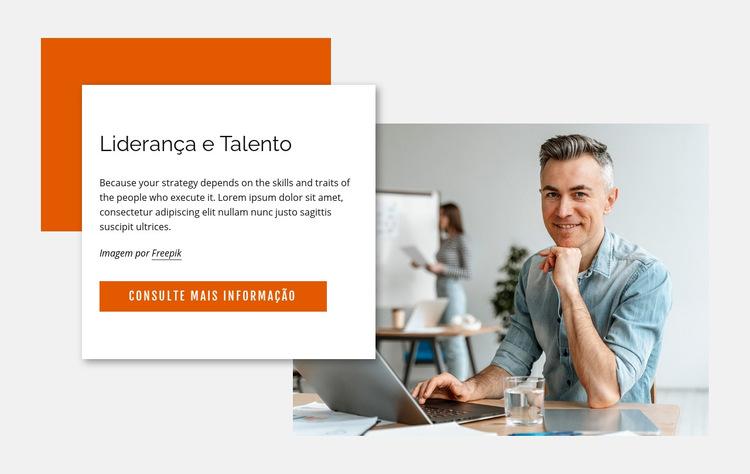 Liderança e talento Modelo de site