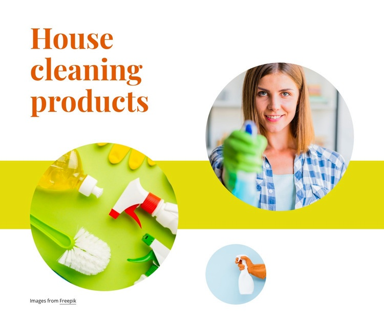 House cleaning products Web Page Design