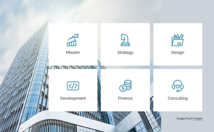 Strategy and finance consulting Web Page Design
