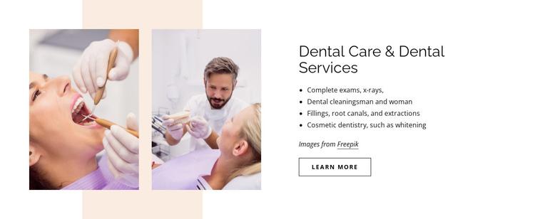 Dental care and dental services Website Builder Software