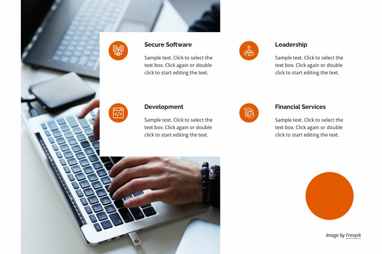 Complementary services Website Mockup