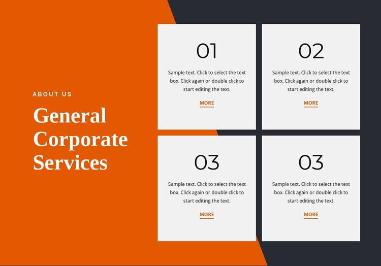 General corporate services Website Mockup