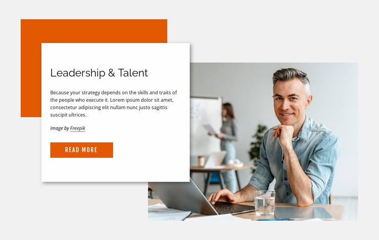 Leadership and talent Website Mockup