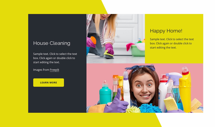 Happy home Website Template
